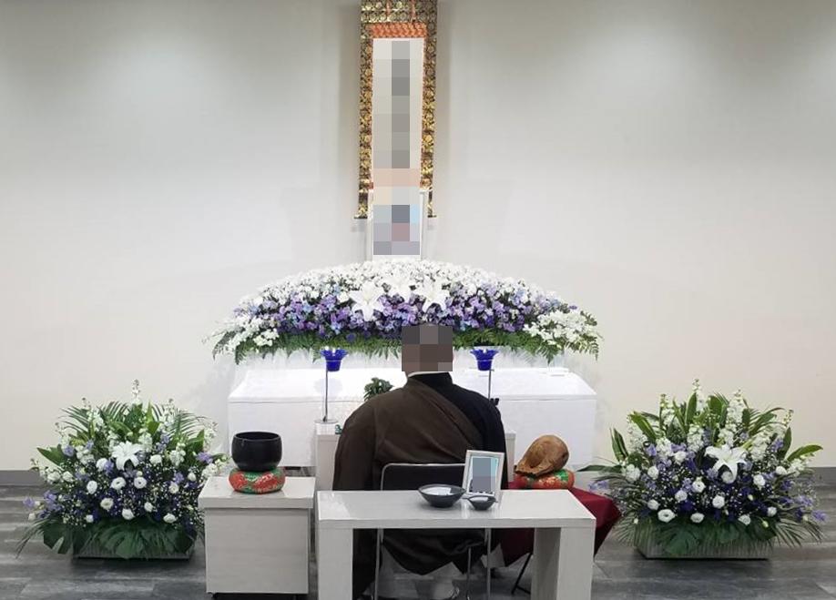 西成区、西栄寺会館に於て 家族葬プラン47