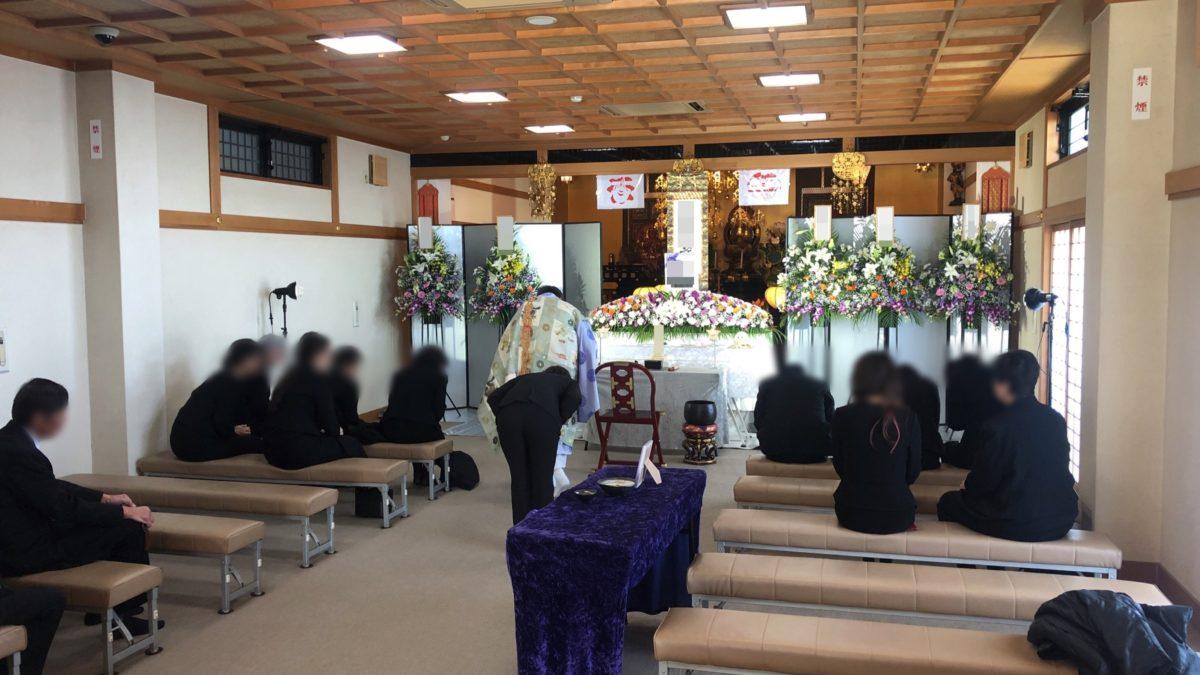 羽曳野市 安養寺に於いて家族葬