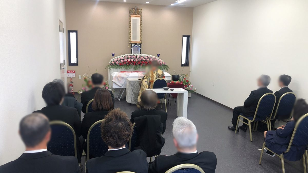 御幣島西栄寺中式場に於いて家族葬